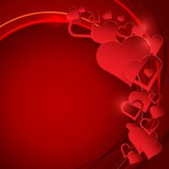Valentine's day background with abstract hearts and place for yo