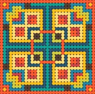 Colorful Pattern for beads with squares