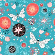 Beautiful decorative graphics butterfly on a white background
