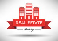 Real Estate Icon with Typographic Design