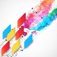 Abstract multicolored technology business background