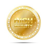 Gold frame with diamonds - HIGH QUALITY badge