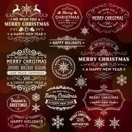 Christmas Frames,Banners and Badges