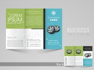 Professional trifold brochure, catalog and flyer template.