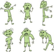 green stick figure zombies