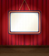 Theater Marquee, Stage Background