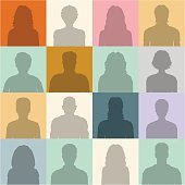 People abstract seamless background