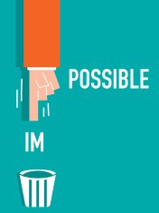Impossible word VECTOR ILLUSTRATION