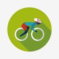 cycling flat icon with long shadow,eps10