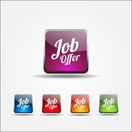 Job Offer Colorful Vector Icon Design
