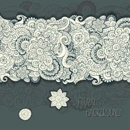 Abstract floral retro background pattern in vector.