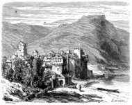 Antique illustration of Atlas Mountains
