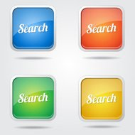 Search Colorful Vector Icon Design