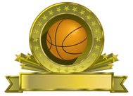 Vector Golden Basketball Emblem