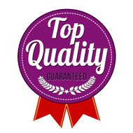 Top quality guaranteed badge