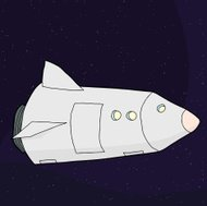 Spacecraft in Outer Space