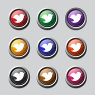 Bird Colorful  Vector Icon Design