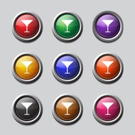 Glass Colorful Vector Icon Design