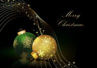 Christmas background with balls .