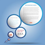 Modern business circle style options banner. Vector/illustration