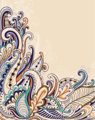 Decorative abstract floral background