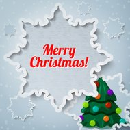 Merry christmas and new year greeting card - xmas pine