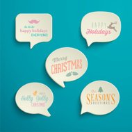 Collection of Holiday Speech Bubbles