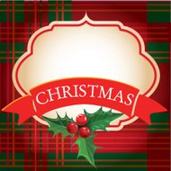 Christmas frame with banner. Vector