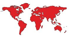 World Map World Map Atlas red
