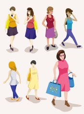 several people isometric vector set