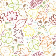 autumn leaves seamles background