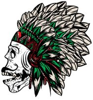 native american indian chief headdress t-shirt graphics