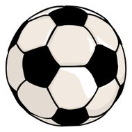 Vector Single Cartoon Soccer Ball