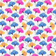Simple seamless pattern in flower, vector