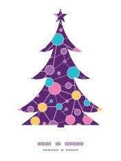 Vector molecular structure Christmas tree silhouette pattern fra