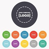 Logo sign icon. Place for logotype.