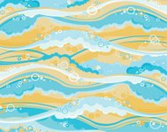 Background -waves and foam.