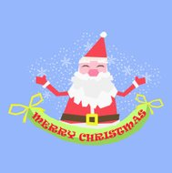 Greeting card, Christmas card with happy Santa Claus