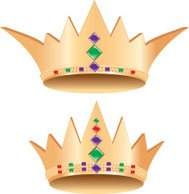 Crowns for the King and Queen of Mardi Gras