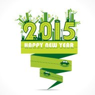 Natural or eco-city new year 2015 concept design