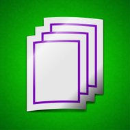 Copy file icon sign. Symbol chic colored sticky label on