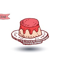 cake food icon isolated, vector illustration.