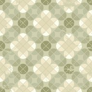 Vintage floral quatrefoil seamless pattern, geometric abstractio