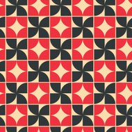 Vector geometric background with rhombs and crosses, contrast