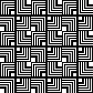 Seamless black and white geometric pattern, simple vector