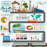 Travel. Vacations. Beach resort infographics