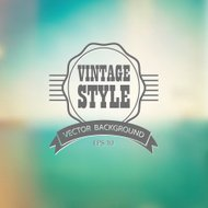 Vintage label on defocused background