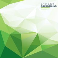 green triangle vector abstract polygonal background