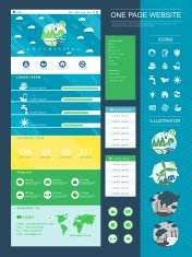 ecology style one page website design
