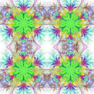 Beautiful tracery in fractal design. Collection - frosty pattern